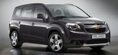 Chevrolet Orlando en version de sérieParis