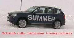 BMW X3 : De l'intérêt des pneus neige... même sur un 4x4