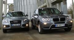 Essai Audi Q5 2.0 TDI S tronic vs BMW X3 xDrive20d Auto : Combat de rue