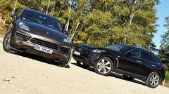 Essai Infiniti FX 30d 238 ch vs Porsche Cayenne Diesel 245 ch : Le choix de la différence