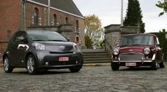 Essai Toyota iQ vs Austin Mini : Cinquante ans d'avance!