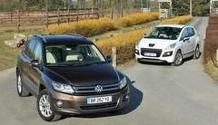 Essai : Le Peugeot 3008 HYbrid4 affronte le Volkswagen Tiguan TDI