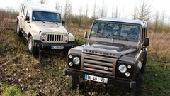 Essai Jeep Wrangler Unlimited 2.8 CRD 200 ch vs Land Rover Defender 2.4 Diesel 122 ch : Force et robustesse