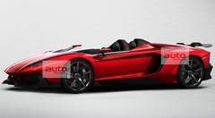 La Lamborghini Aventador J s'avance en avance