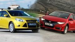 Essai Ford Focus 2.0 TDCi 140 ch vs Honda Civic 2.2 i-DTEC 150 ch : concours de popularité