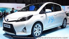 Les prix de la Yaris hybride et de la Prius +