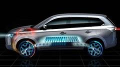 Mondial de l'Automobile de Paris 2012 : un Mitsubishi Outlander hybride rechargeable
