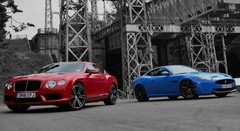 Essai Bentley Continental GT V8 & Jaguar XKR-S : Royal !