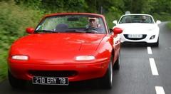 Mazda MX-5 Mk1 (1990) vs Mazda MX-5 Mk3 (2012) : cœur de roadster