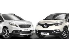 Peugeot 2008 - Renault Captur : voies parallèles
