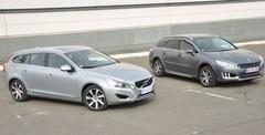 Essai Peugeot 508 RXH et Volvo V60 D6 : hybrides à particules