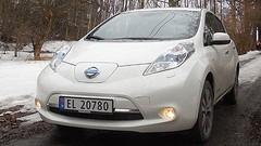 Essai Nissan Leaf électrique en Norvège