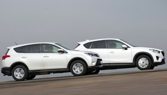 Essai Toyota RAV4 2.0 D-4D 124 4x2 vs Mazda CX-5 2.2 Skyactiv-D 150 4x2 : Made in Japan