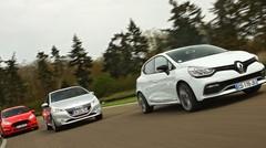 Essai Renault Clio R.S. vs Peugeot 208 GTi vs Ford Fiesta ST : le plaisir grand gagnant