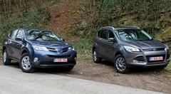 Essai Ford Kuga vs Toyota RAV4 : SUV familiales