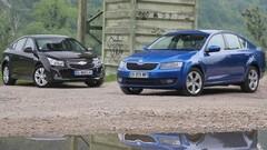 Essai Skoda Octavia vs Chevrolet Cruze : deux familiales au prix d'une compacte