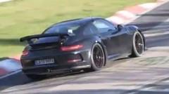 La future Porsche 911 GT2 sur la Nordschleife
