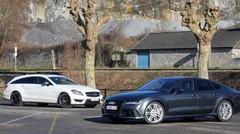 Essai Audi RS7 Sportback vs Mercedes CLS 63 AMG Shooting Brake : La bête… et la bête !