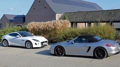 Essai Jaguar F-Type V6 vs Porsche Boxster GTS : Le chant du six