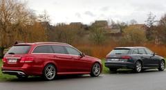 Essai Audi A6 Avant vs Mercedes Classe E Break : boîtes magiques !