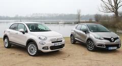 Essai Fiat 500X vs Renault Captur: le match des SUV essence