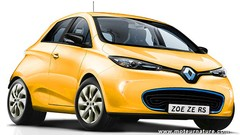 Renault Zoé ZE RS, propulsion 300 kW, batterie chrome