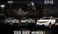 Nissan Qashqai passe le cap des 200 000 exemplaires livrés en France