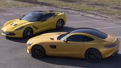 Essai Corvette C7 Stingray vs Mercedes AMG GT : Plaisirs bruts