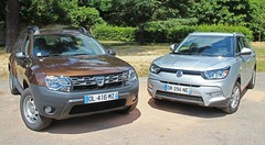 Essai Dacia Duster vs Ssangyong Tivoli : SUV middle-cost