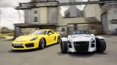 Essai Porsche Cayman GT4 vs Donkervoort D8 GTO : la course ou la vie
