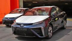 Débarquement de Toyota Mirai à Zeebruges