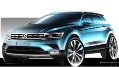 1ers croquis du nouveau Volkswagen Tiguan