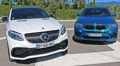 Essai BMW X6M vs Mercedes GLE Coupé 63 AMG : Sumotori-sés