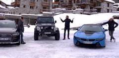 Emission Automoto : i8-Wrangler-A6 Allroad au Val d'Isère; Ibiza Cupra