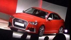 """Audi RS3 berline (2016) : premières photos """"quasi officielles"""""""