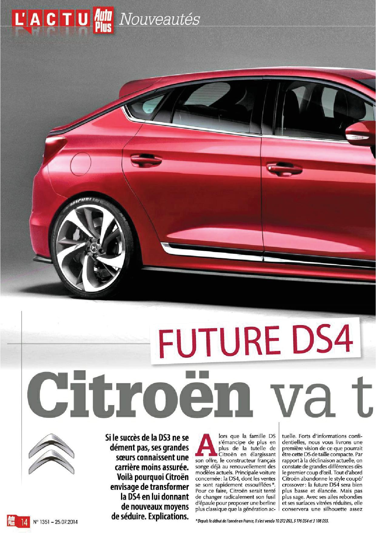 citroen ds4 nouvelle ds4s chinoise page 69 page 62 auto titre. Black Bedroom Furniture Sets. Home Design Ideas