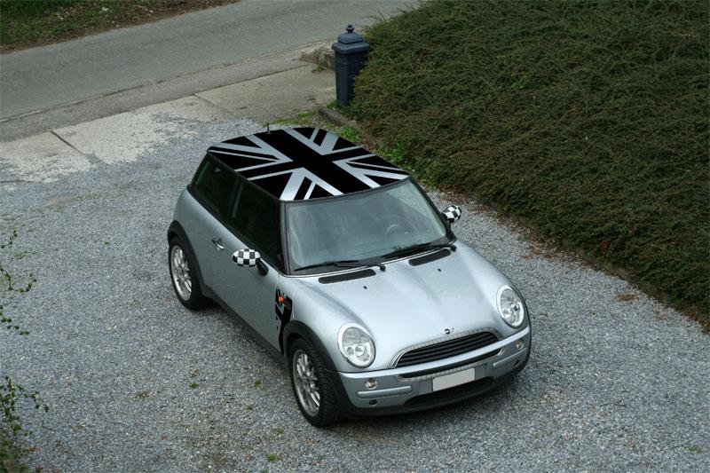 Avis que faire sur le toit de ma mini auto titre - Drapeau anglais gris ...