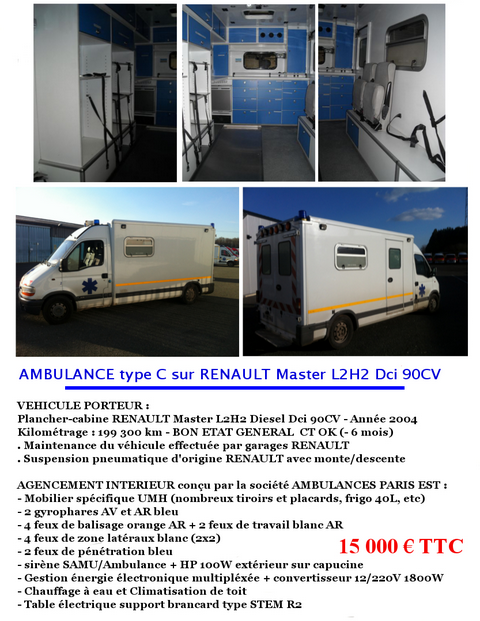 vehicules des associations de secourisme et aasc