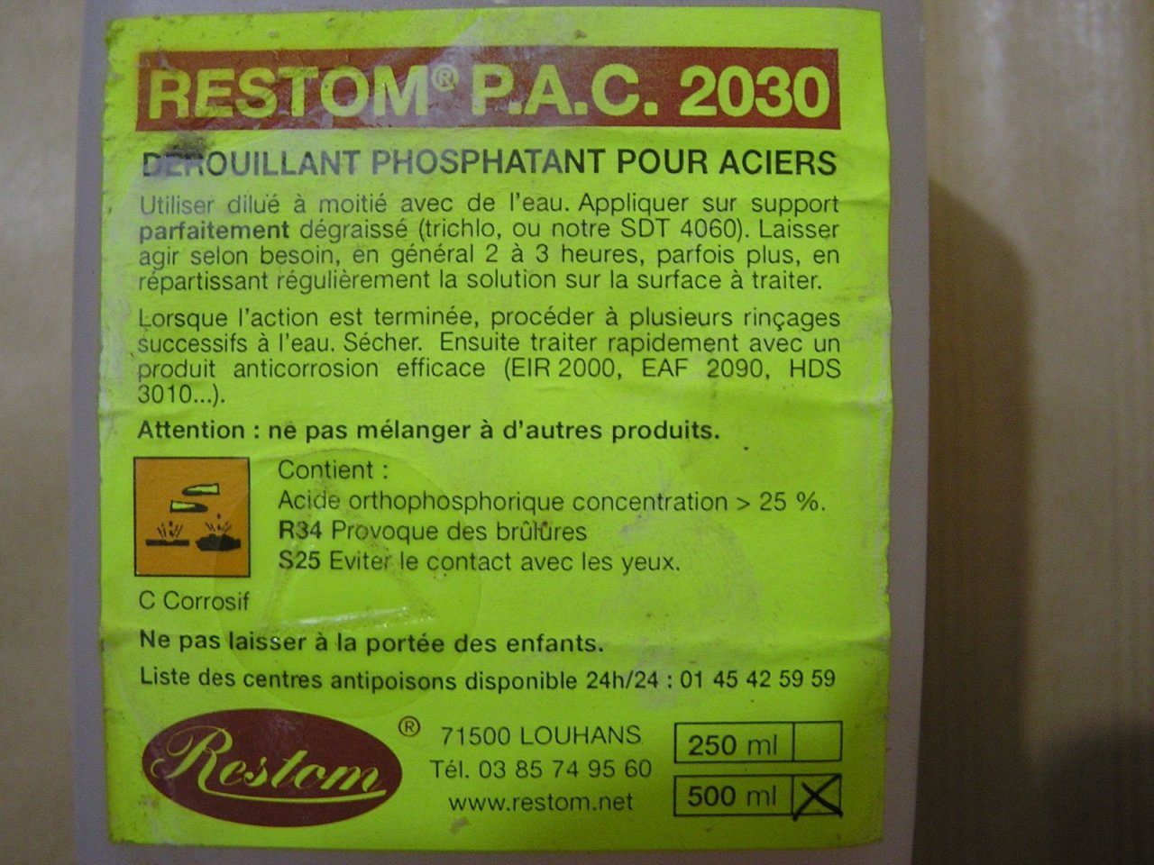 Renault floride caravelle international forum page 382 - Acide phosphorique rouille ...