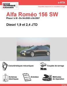 Revue Technique Alfa Romeo 156 Sportwagon diesel