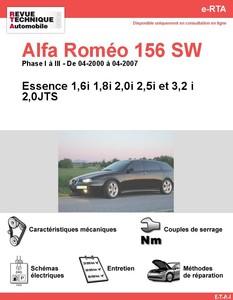 Revue Technique Alfa Romeo 156 Sportwagon essence