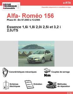 Revue Technique Alfa Romeo 156 essence