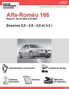 Revue Technique Alfa Romeo 166 essence
