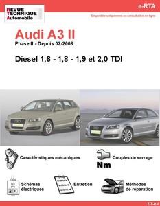 Revue Technique Audi A3 8P diesel