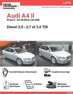 Revue Technique Audi A4 B7 diesel