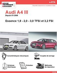 Revue Technique Audi A4 B8 essence
