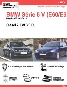 Revue Technique BMW Série 5 E60-E61 diesel