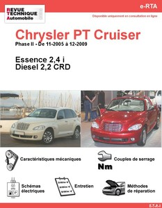 fiche technique chrysler pt cruiser auto titre. Black Bedroom Furniture Sets. Home Design Ideas