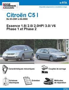 Revue Technique Citroën C5 I Essence