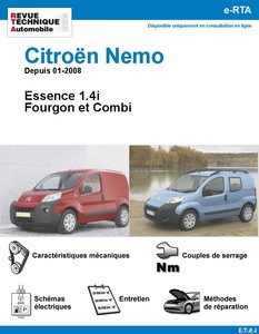 Revue Technique Citroën Nemo essence